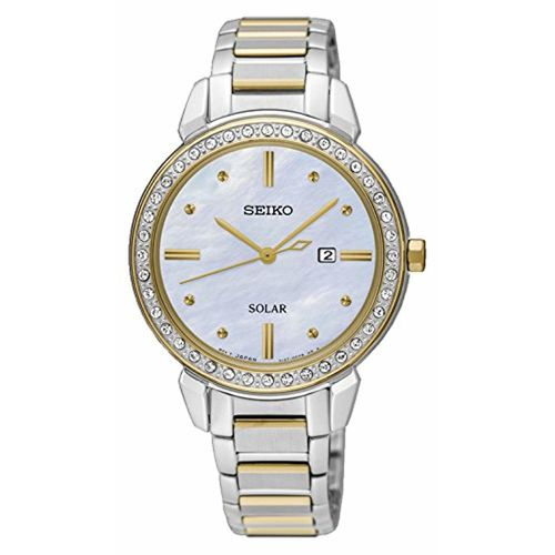 Seiko Analog Mother of Pearl Dial Women's Watch-SUT328P1