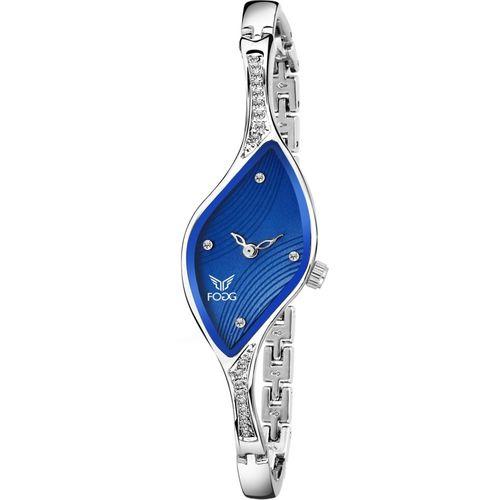 Fogg 4060-BL Ethnic Blue Bracelet Look Watch - For Women