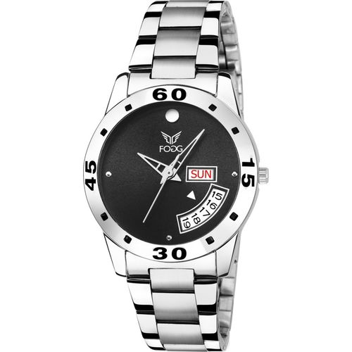 Fogg 4059-BK Black Day and Date Watch - For Women