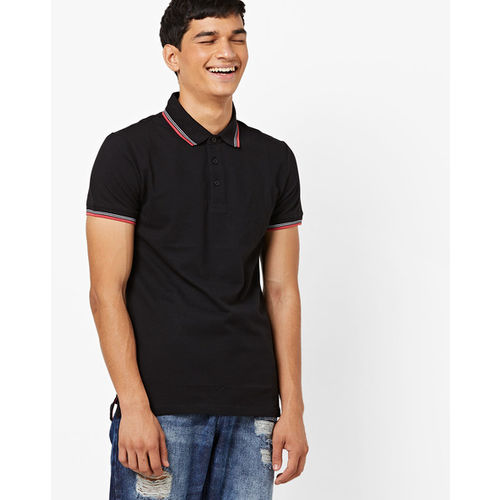 UNITED COLORS OF BENETTON Polo T-shirt with Contrast Tipped Collar