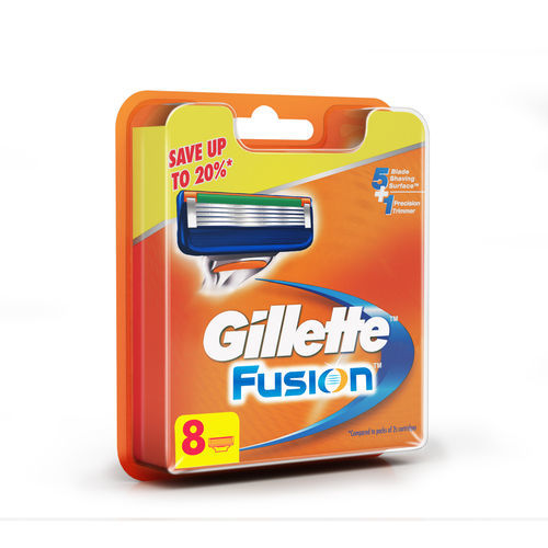 Gillette Fusion Manual Shaving Razor Blades (2 cartridge) 8 Pack Save 20% (8 Pack)