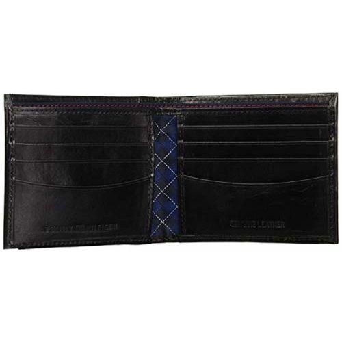 Tommy Hilfiger Acorn Black Leather Wallet
