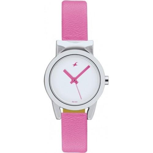 Fastrack 6088SL01 Pink & White Analog Watch