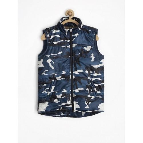 cdfcf6280 Buy Allen Solly Junior Boys Navy Camouflage Print Jacket online ...