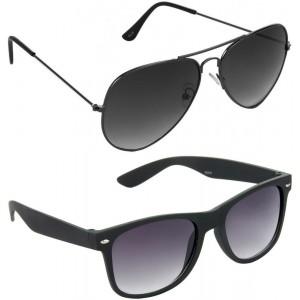 Red Leaf Combo Pack Aviator, Wayfarer Sunglasses