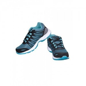 Density Rider Blue and Black Synthetic Leather Running Shoes