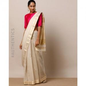 Indie Picks Handloom Tana Maheshwari Pure Silk Cotton Saree