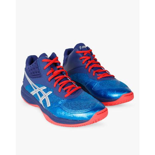 ASICS Men Blue NETBURNER BALLISTIC FF MT Volleyball Shoes