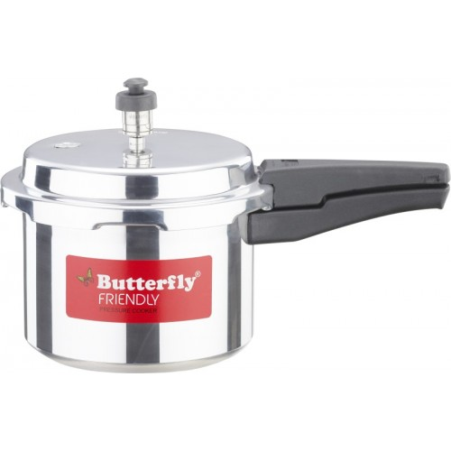 Butterfly Silver Aluminium Friendly 3 L Pressure Cooker with Induction Bottom