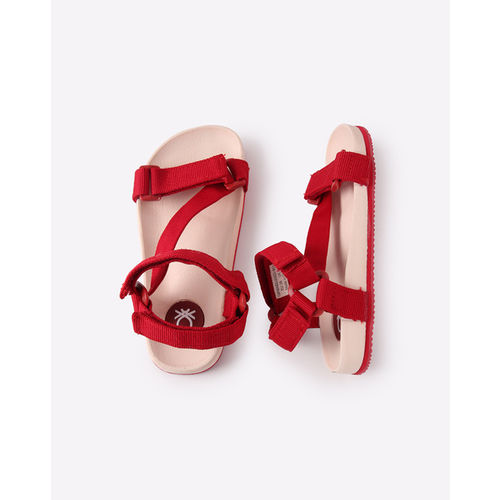 fcaebae536ad32 ... UNITED COLORS OF BENETTON Strappy Flat Sandals with Velcro Closure ...