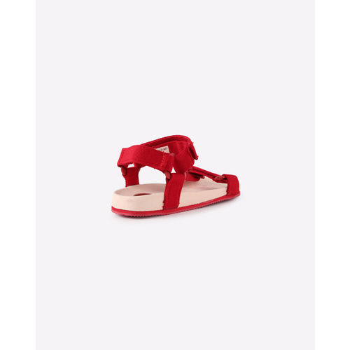 UNITED COLORS OF BENETTON Strappy Flat Sandals with Velcro Closure