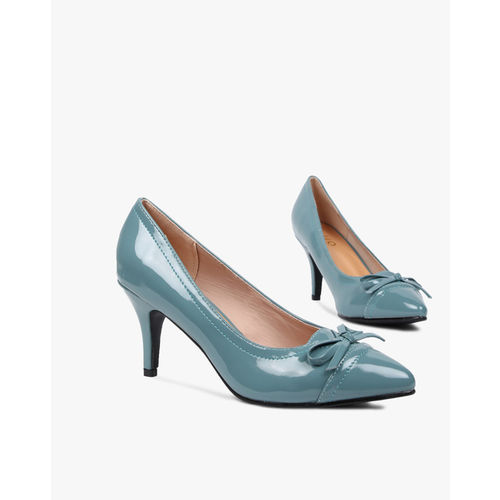 AJIO Pointed-Toe Pumps with Bow