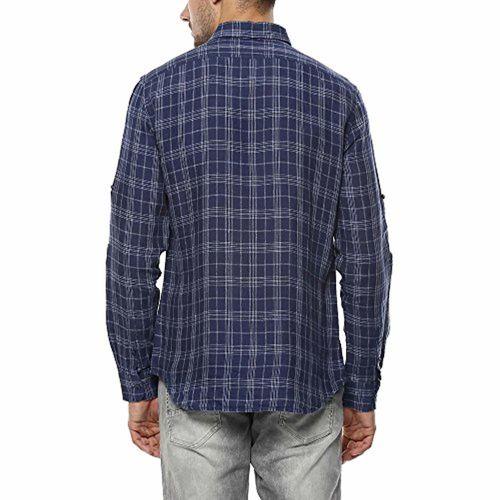 Celio Mens Slim Collar Check Shirt