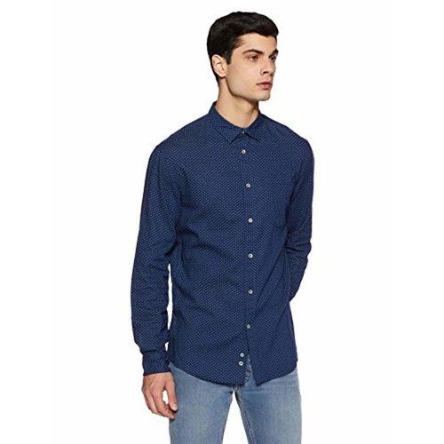 Celio Men's Printed Regular Fit Casual Shirt