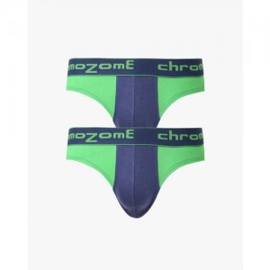 CHROMOZOME Pack of 2 Colourblock Cotton Briefs