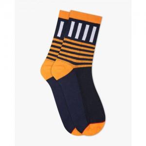 Soxytoes Striped Calf-Length Socks