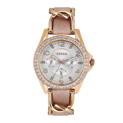 Fossil Women Off-White Dial Chronograph Watch ES3466I
