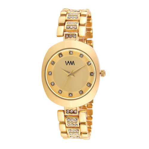 WM Women Gold-Toned Analogue Watch WMAL-347