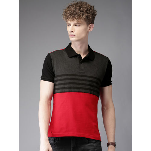 HERE&NOW Red Striped Polo T-Shirt