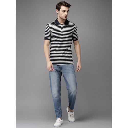 HERE&NOW Grey Striped Polo T-Shirt