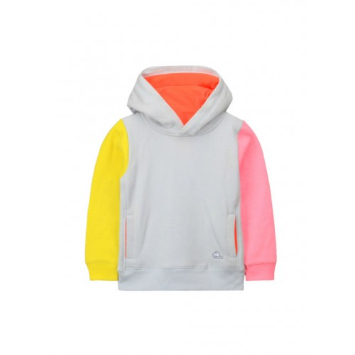 Cherry Crumble Kids Grey Cotton Hooded Sweatshirt