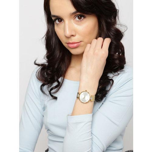 Daniel Klein Women Silver-Toned Dial Watch DK10973-1