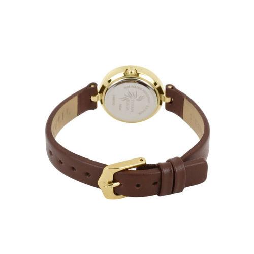 Titan Raga Women Silver-Toned Dial Watch NH2498YL01