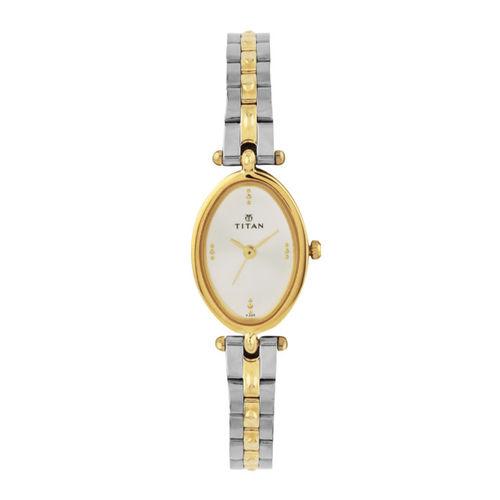 Titan Women White Dial Watch NE2418BM01