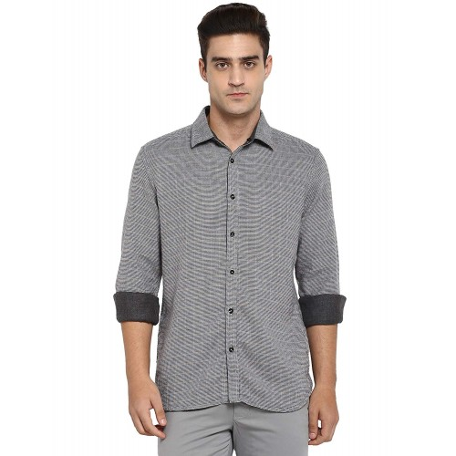 Parx Checkered Slim Fit Casual Shirt