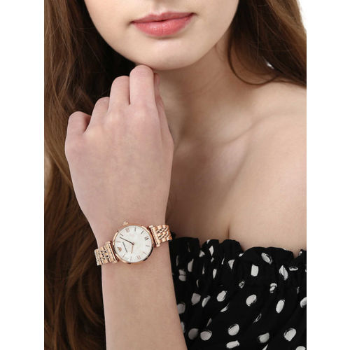 Emporio Armani WFIEA-AR11110I Women White & Rose Gold Analogue Watch