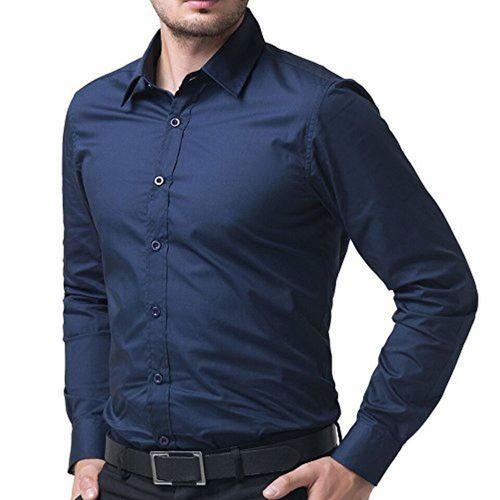 a5bab6c9a0 ... Blue  AKAAS Cotton Blend Full Sleeve Men s Formal-Shirt Navy ...