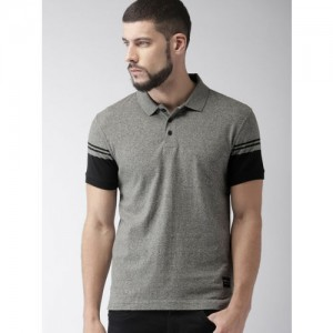 Levis Gray Cotton Solid Slim Fit Casual Polo T-Shirts