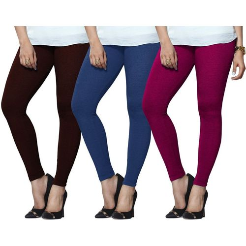 c8c54204eee12 Buy Lux Lyra Legging(Maroon, Light Blue, Pink, Solid) online | Looksgud.in