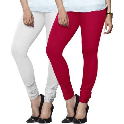 953df6176d1b4 Buy Lux Lyra Legging(White, Pink, Solid) online | Looksgud.in
