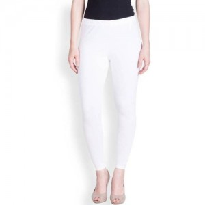 Lux Lyra Ankle Length Legging(White, Solid)