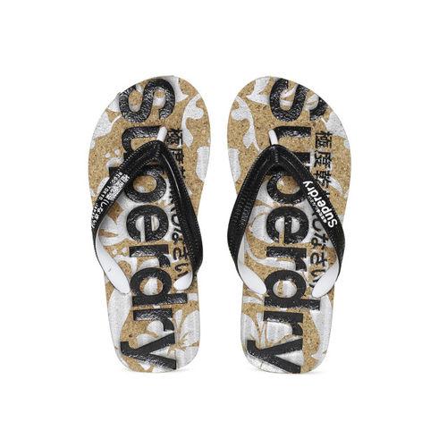 Superdry Women Black Printed Thong Flip-Flops
