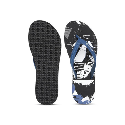 e8b8ca52d Buy Reebok Women Black   White Cash Printed Thong Flip-Flops online ...