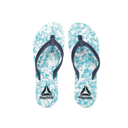 a29798a4d518 Buy Reebok Women Teal   Navy Blue Printed DAMSEL Thong Flip-Flops ...