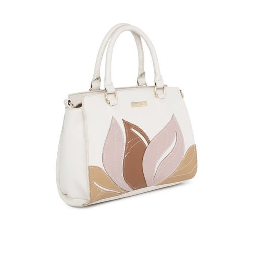 Addons Beige Printed Handheld Bag