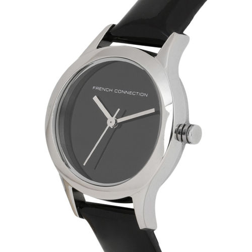 French Connection Women Black Analogue Watch FC1206B