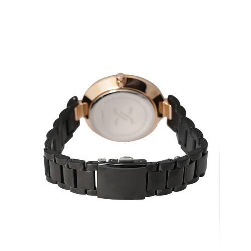 Daniel Klein Premium Women Black Stone-Studded Dial Watch DK11181-2