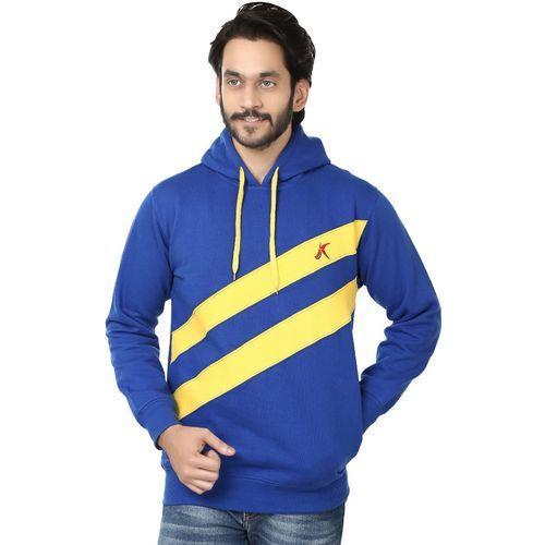 Kraasa Full Sleeve Self Design Men's Sweatshirt