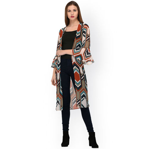 844ff78b78 Buy PURYS Multicoloured Printed Open Front Shrug online ...