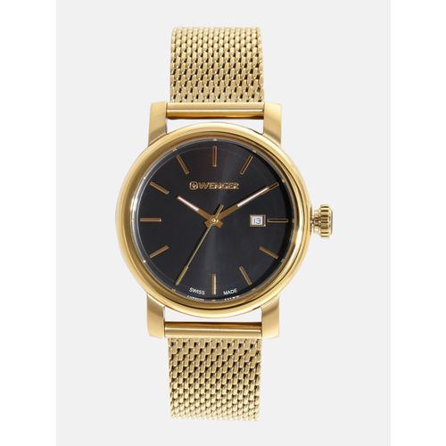 Wenger Urban Vintage Women Black Swiss Dial Watch 01.1021.120
