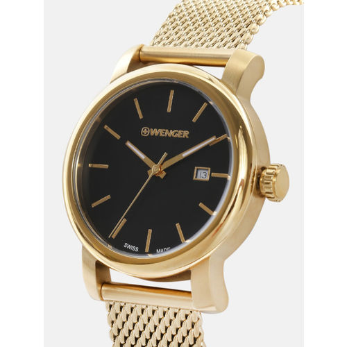 Wenger Urban Vintage Women Black Swiss Dial Watch 01.1021.120