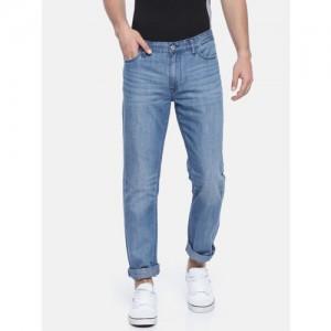 Calvin Klein Jeans Men Blue Slim Straight Fit Mid-Rise Clean Look Jeans