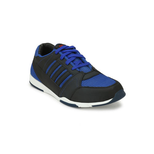 9e85b396e67762 Buy Eego Italy Men Navy Blue Leather Mid-Top Trekking Shoes online ...
