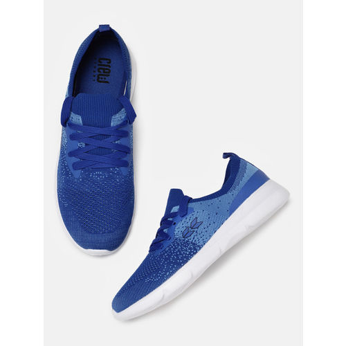2e6a4f152f3f4 Buy Crew STREET Men Blue Patterned Running Shoes online | Looksgud.in