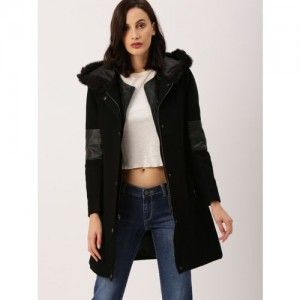 all about you Black Solid Parka