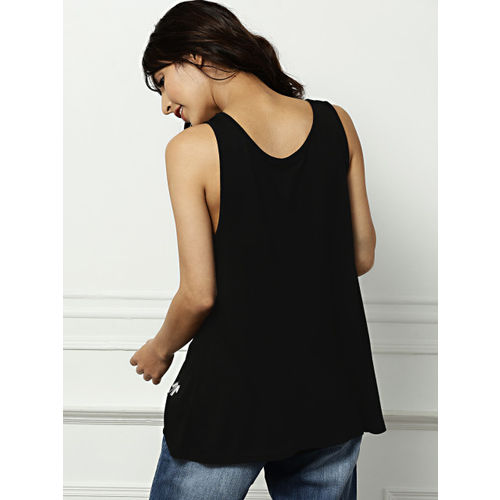 all about you from Deepika Padukone Women Black Solid Top